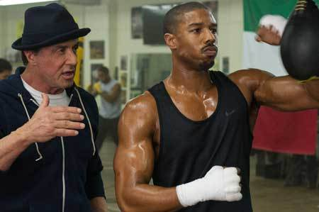 Rocky coaches Adonis Creed