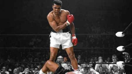 The famous Muhammad Ali
