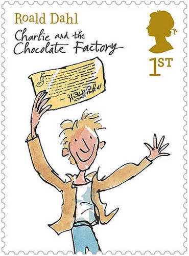 Roald Dahl is so famous that pictures from his books were made into stamps!