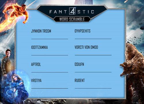 Fantastic Four Word Scramble
