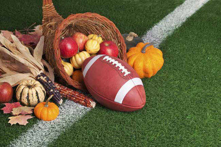Football on TV is a Thanksgiving TV tradition!