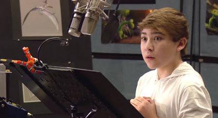 Raymond in the recording studio