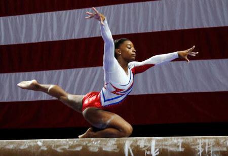 Simone is on the 2016 US Olympic gymnastics team