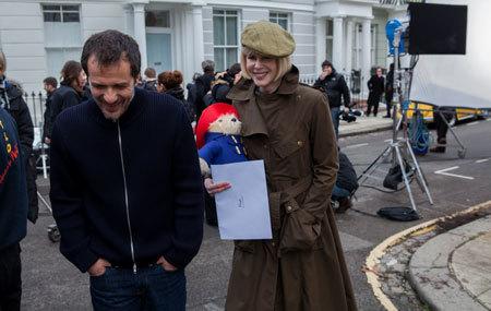 Nicole Kidman having a laugh on set