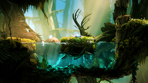The world of Ori's is beautiful but dangerous.