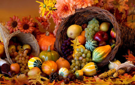 Thanksgiving is also a celebration of the harvest season