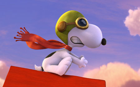 Snoopy as the great flying ace