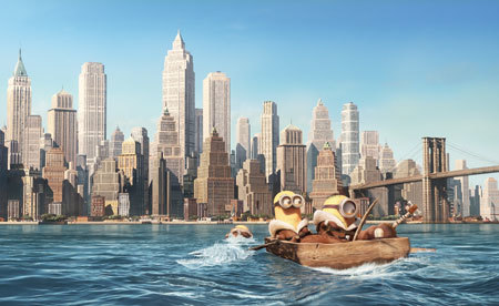 Bob, Kevin and Stuart paddle their way to Manhattan