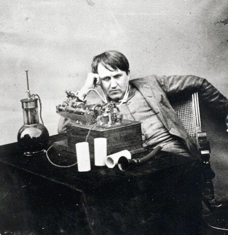 Something tells me Thomas Edison didn't love being a telegraph operator...