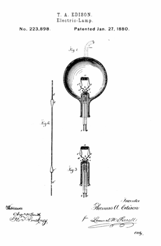 This is the patent for Edison's light bulb!