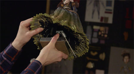 Check out the mechanics behind the flowing skirts
