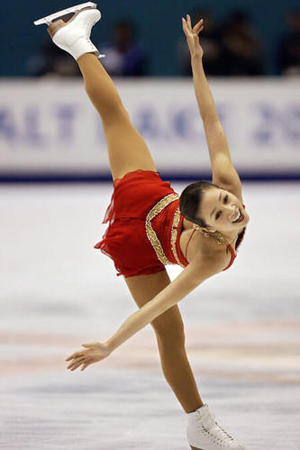 Michelle Kwan is one of the most famous figure skaters ever!