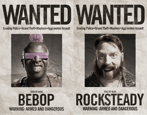 Bebop and Rocksteady Wanted Posters