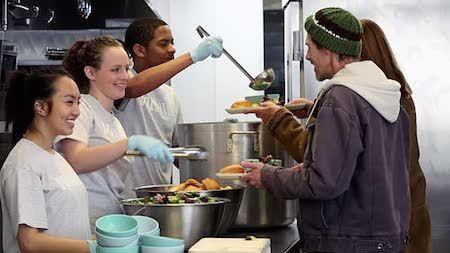 Homeless shelters always need volunteers!