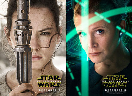 Daisy and Carrie as Rey and Leia