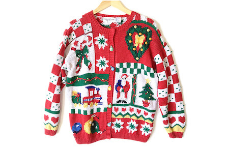 Shop at a thrift store for your next ugly sweater party!