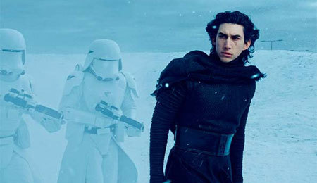 Adam as Kylo Ren out of his suit