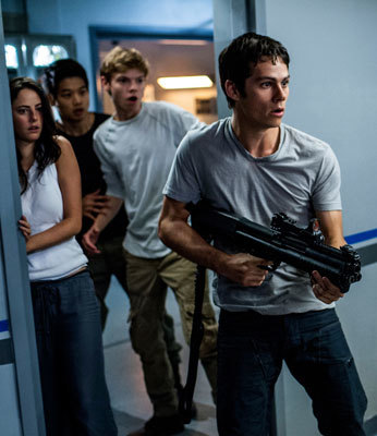 Thomas leads Teresa, Minho, and Newt in a daring escape from WCKD