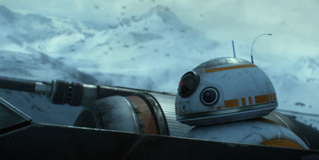 Robot BB8 in Poe's X-Wing