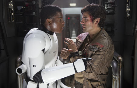 Finn confronts Poe