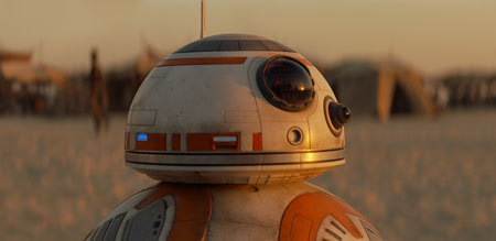 Droid BB8 contains a map to Luke