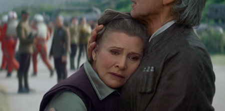 Han and Leia are reunited but worried
