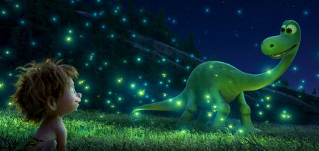 Arlo shows Spot his trick with fireflies