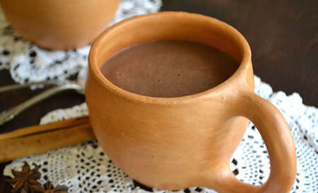 Chocolate atole is traditionally served at Christmas time.