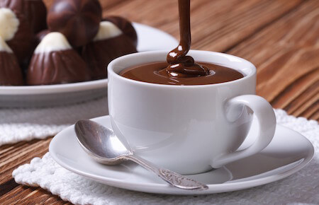 Cioccolata calda is like a chocolate bar in a mug!