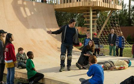 Brad's skateboarding trick goes horribly wrong