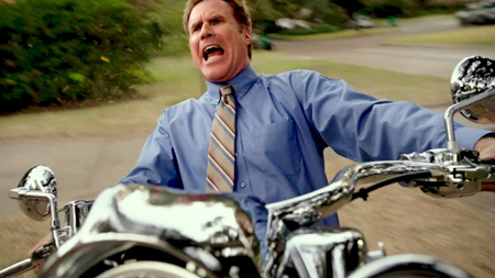 Will on the motorcycle