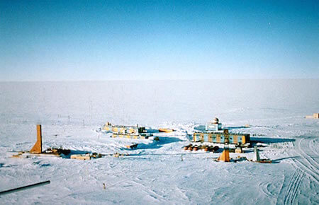 Vostok Station is the coldest place in the world.