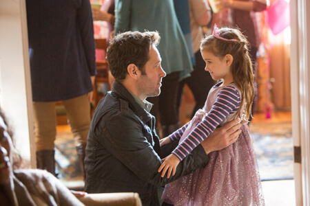Ant-Man Scott with his young daughter