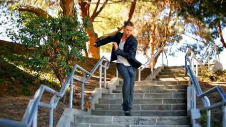 Derek Hough in the video for harlem Hopscotch