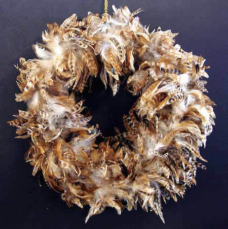 If you like, you could even make a wreath out of feathers!