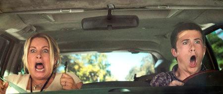 Big bro fails his driving test