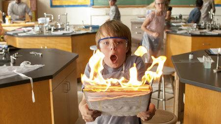 Alexander sets lab notes on fire!