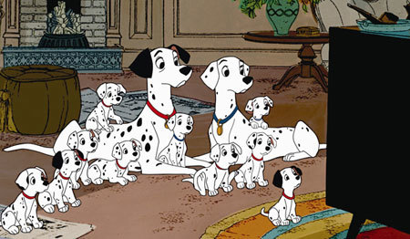 Pongo and Perdita and their puppies