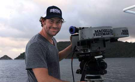 Shaun MacGillivray with the big IMAX camera