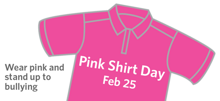 Pink Shirt Day is February 25th, 2015!