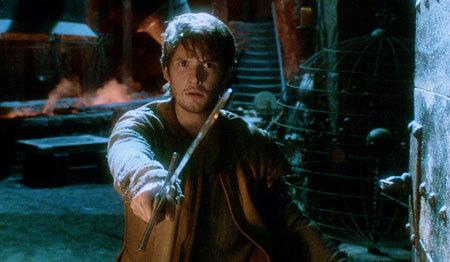 Tom (Ben Barnes) gets ready for swordplay