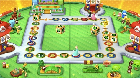 The Amiibo Mode game board.
