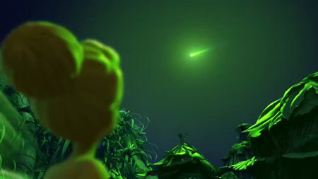 Tink sees the green comet