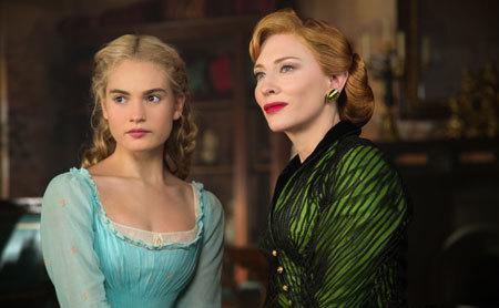 Cinderella with her evil stepmom (Cate Blanchett)