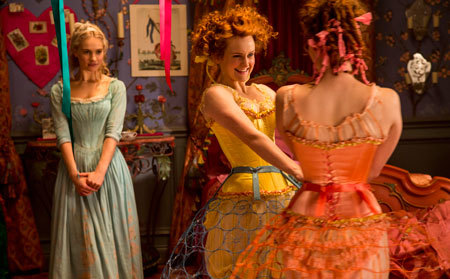 Cinderella with her mean step sisters