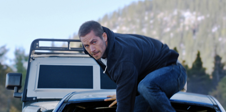 Brian (Paul Walker) ready for action