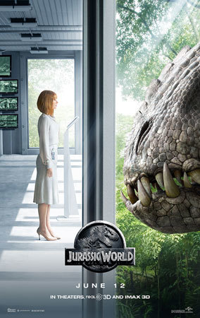 Claire Dearing face to face with the Indominus Rex
