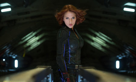 Black widow (Scarlett) in action