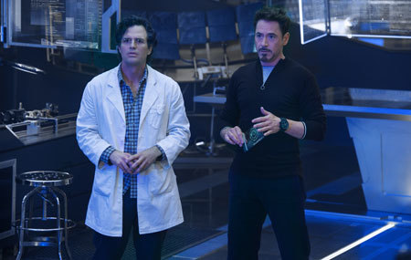Dr. Bruce Banner (Hulk) with Tony Stark