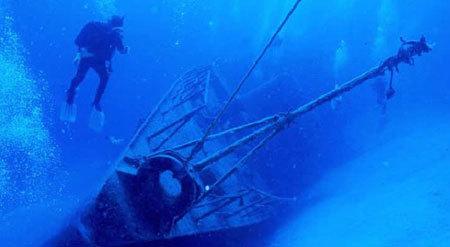 Shipwreck off the coast of Florida